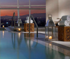St-Regis-Mexico-City-spa-pool-city-view-sunset