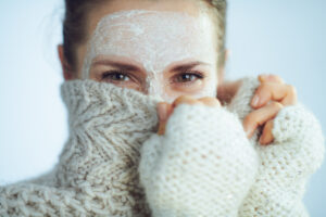 try not to use face peels and chemical masks in order to help with your skin care in winter